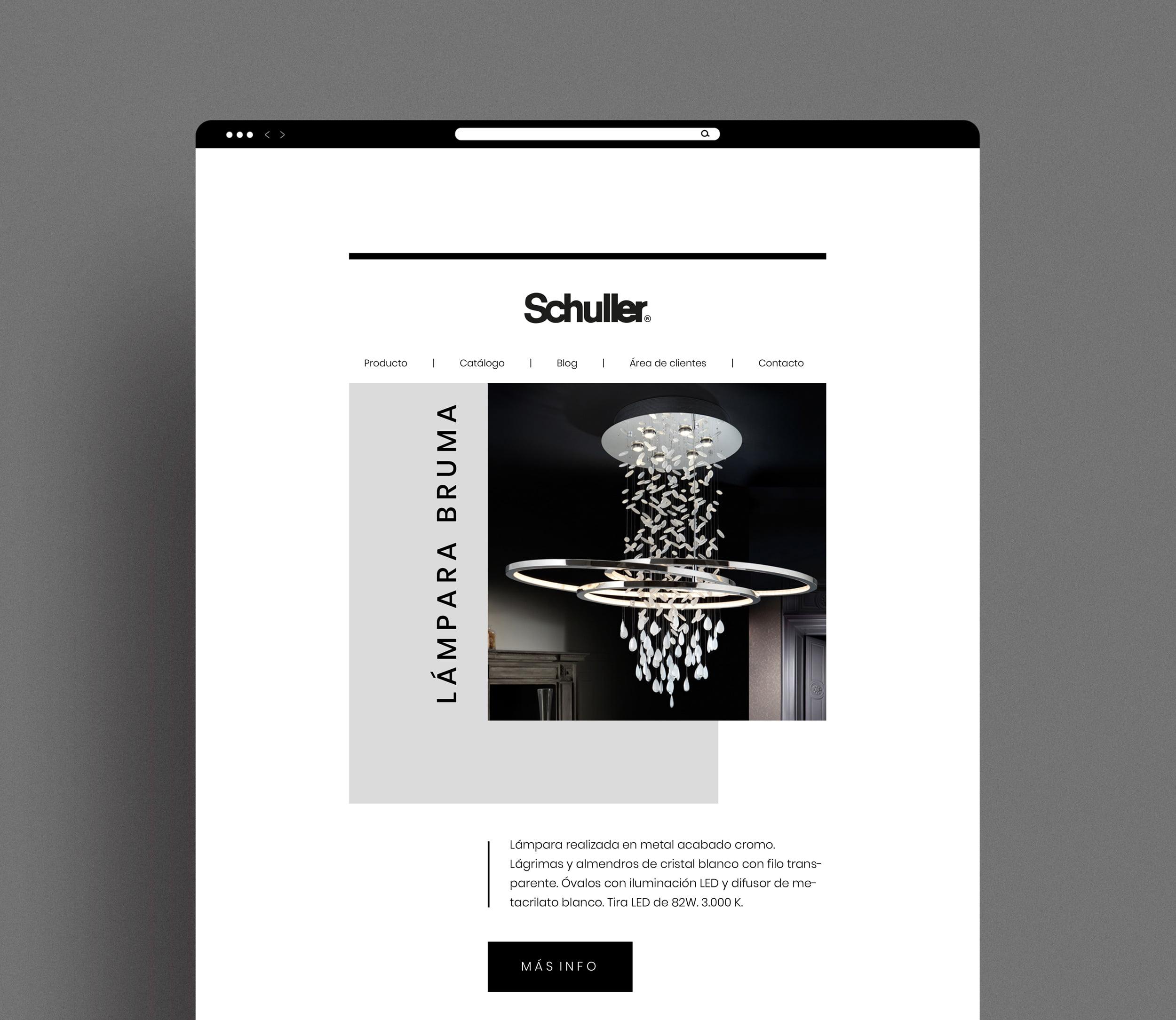 Diseño de newsletter email marketing empresa mueble schuller a