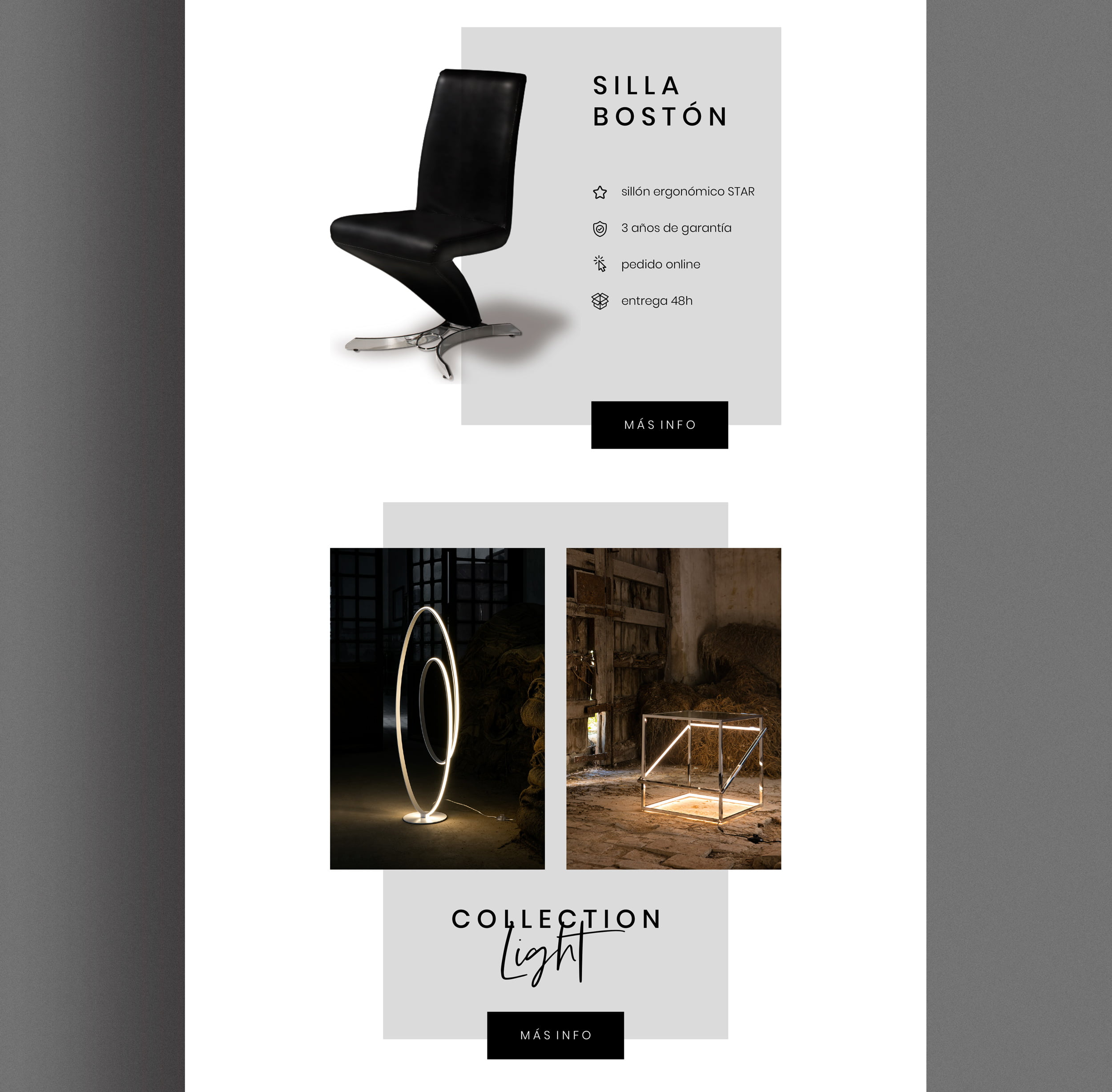 Diseño de newsletter email marketing empresa mueble schuller b