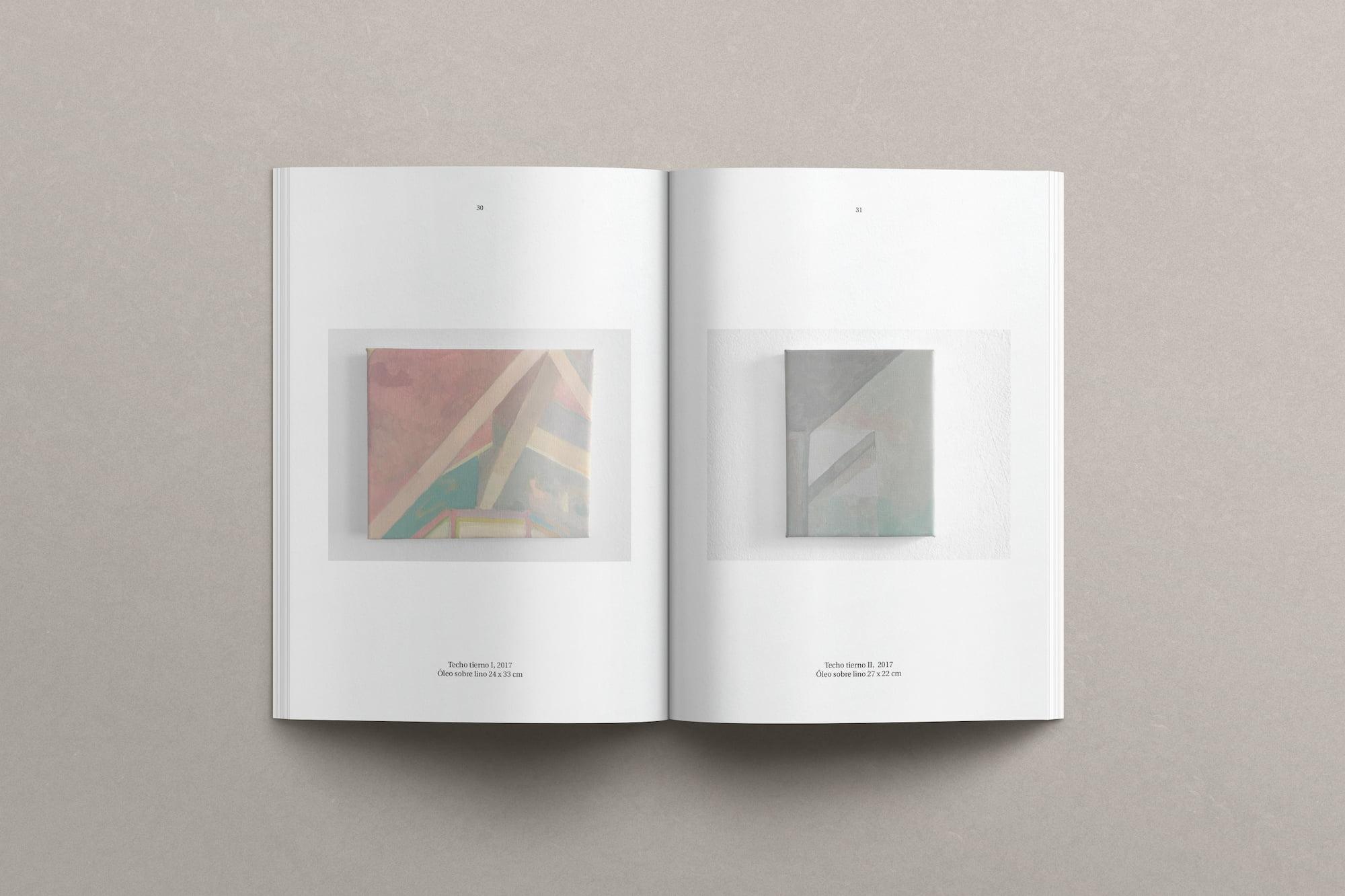 Diseño editorial catálogo obra_ Mercedes Mangrane